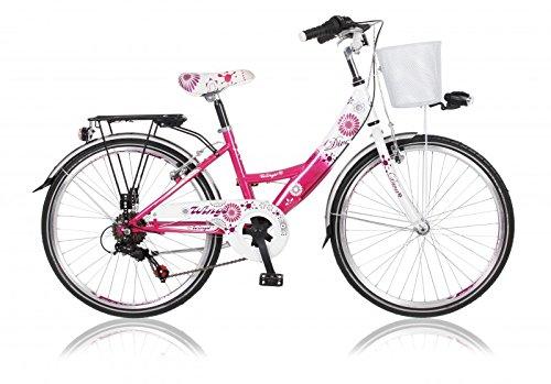 """26"""" 26 Zoll Kinder Damen Fahrrad Bike Mädchenfahrrad Cityfahrrad Citybike 6 Gang Diva PINK"""