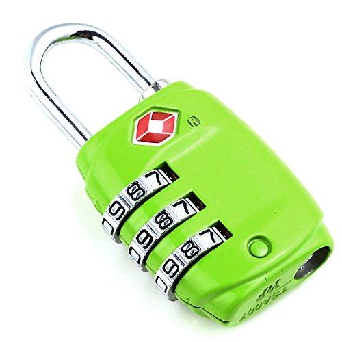 DonDon candado de Viaje TSA Travel Sentry Approved/candado de Equipaje de Color Verde