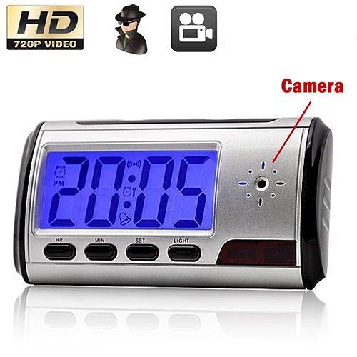 Ventamundi Reloj Despertador Digital espía grabación con cámara Oculta