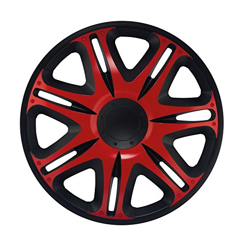 15pulgadas tapacubos NASCAR Red (Rojo con Negro). Tapacubos apto para Opel Vehículos