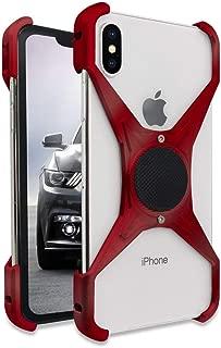 Rokform Predator [iPhone X/XS] Slim Aerospace Aluminum Minimalist Magnetic Case (Red) (Renewed)