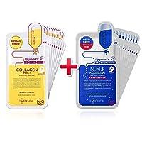 【正規品】[10+10] [メディヒール] Mediheal [N.M.F アクアリング アンプルマスク EX (10枚)] + Mediheal Collagen Impact REX [コラーゲンインパクト エッセンシャルマスクREX (10枚) ]