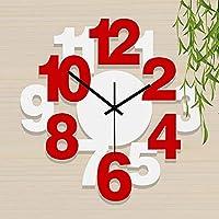 ヨーロッパスタイルのモダンなシンプルリビングルームミュート壁時計(カラー:サイズ:20インチ)-12インチ_NS
