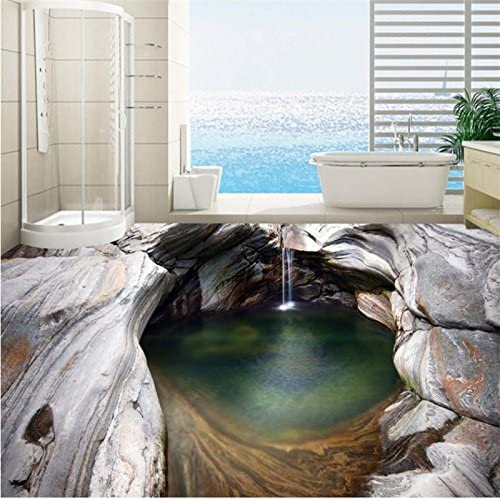 Mznm Custom 3D Max 47% OFF Flooring Mural Wallpaper Rock Creek Waterfall SEAL limited product