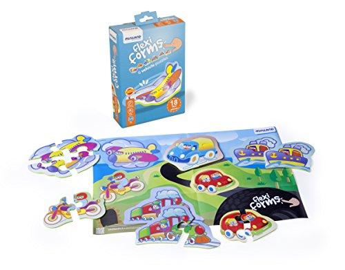 Miniland 45304 Flexi Form 6 véhicules Multicolore