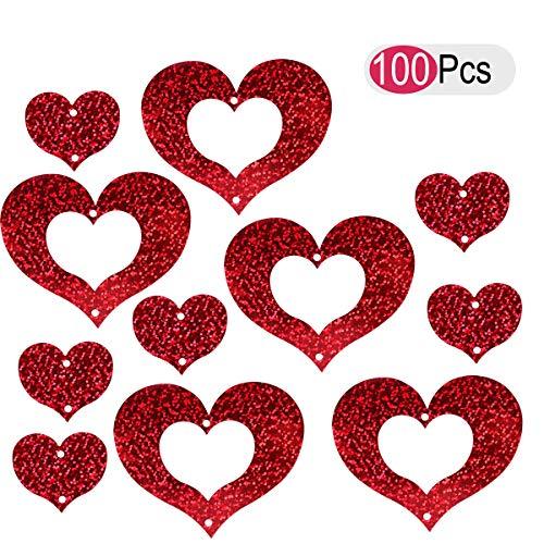 Vosarea Ballon Pendentif Coeur Amour Anniversaire De Mariage Proposition De Mariage Partie Fournitures 100pcs