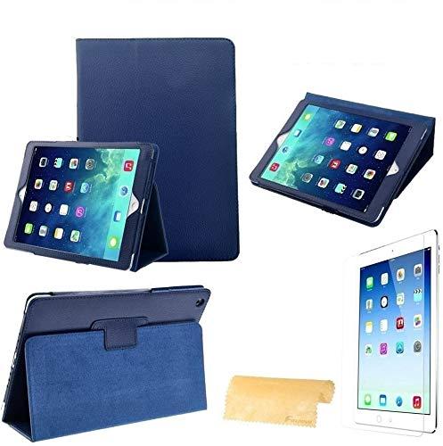 Pjp Electronics Funda magnética inteligente para iPad Air Pantalla Retina de 9.7 pulgadas Lanzado a finales de 2013 y principios de 2014 con protector de pantalla, calidad suprema (azul)