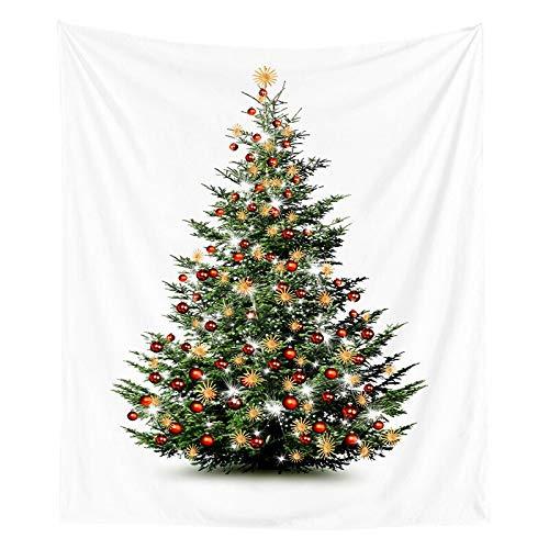 Tapiz de navidad pintura de acuarela impresión de árboles de navidad tela colgante de interior decoración de la pared tela de fondo tela a2 73x95cm