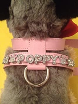 Surrey Feed Personalised Dog Harness diamante//rhinestone//bling//charms Available