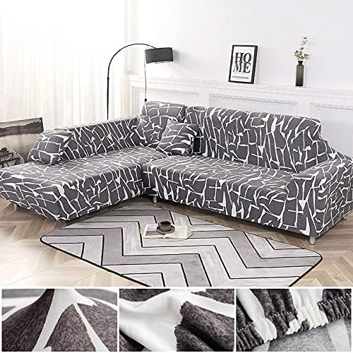 WXQY Funda de sofá geométrica, Funda de sofá Modular, Funda de sofá Flexible para Sala de Estar, sofá Chaise Longue de Esquina en Forma de L A4 1 plazas