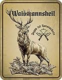 RAHMENLOS Deko Blechschild als Geschenk für Jäger - Jagen