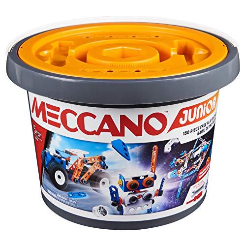 MECCANO - BARIL 150 PIECES MECCANO JUNIOR - Jeu de Construction Avec Outils - 6055102 - Jouet Enfant 5 Ans Et +