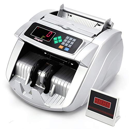 Money Counter Machine Kaegue Bill Counter Counting Cash Machine with UV/MG/IR Detector Business Grade Currency Cash Counter,Counterfeit Bill Detection(Standard)