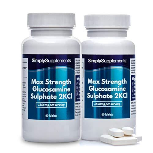 Sulfate de Glucosamine 2KCI Extra Forte | 120 Comprimés | Jusqu'à 2 mois de bienfaits |SimplySupplements
