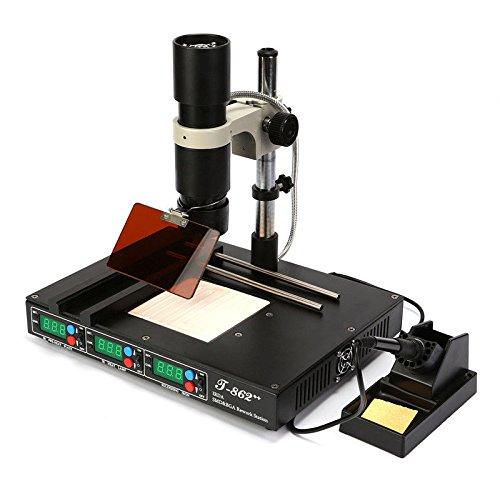 OBLLER 800W Infrared rework station IRDA WELDER BGA XBOX SMT SMD Lötstation T862++
