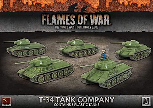 Flames of War: Mid War: Soviet: T-34 Tank Company (SBX54)