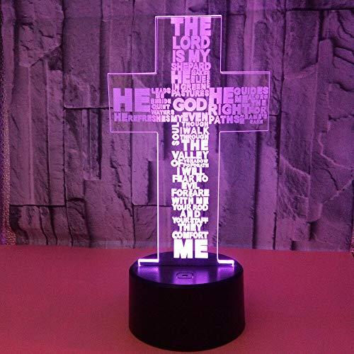 3D-Lampe, 7 Farben, Touch-LED, visuelle Nachttisch-Lampen für Wohnzimmer, individuelle Gestaltung,...