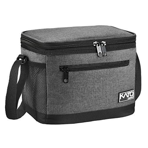 Kato Tirrinia Lunchtasche Isoliert für Männer, 7.8L Essenstasche Kühltasche Picknicktasche mit Verstellbarer Schulterriemen Thermotasche Auslaufsichere Faltbar für Arbeit Fitness Unterwegs Schule