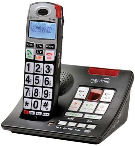new arrival Serene Innovations CL-60A Amplified Talking Caller online sale ID Cordless Phone with Amplified & Slow-play Answering outlet online sale Machine outlet sale