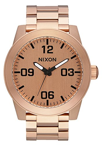 Nixon Reloj Analógico para Hombre de Cuarzo con Correa en Acero Inoxidable A346-897-00