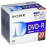 ソニー データ用DVD-R 16倍速 5mmケース 20枚パック 20DMR47LLPS