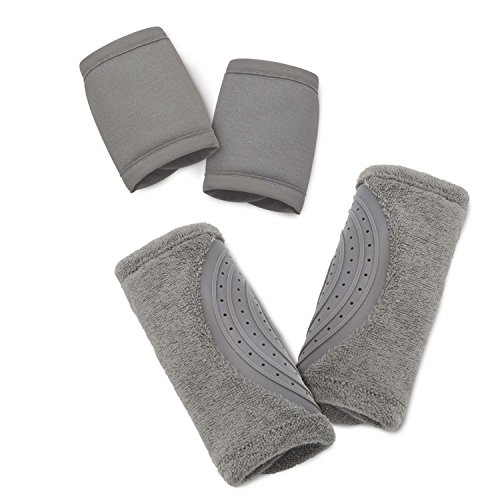 Travel Bug Baby 2 Piece Car Seat Strap Cover Teether Set (Grey)