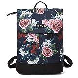 Ela Mo Rucksack Damen - Schön u. Durchdacht - Daypack mit Laptopfach & Anti Diebstahl Tasche für Ausflüge, Uni, Schule u. Büro (A Rose)