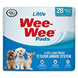 Four Paws Wee-Wee Puppy Training Pee Pads 28-Count 16.5' x 23.5' Little Size Pads for Dogs