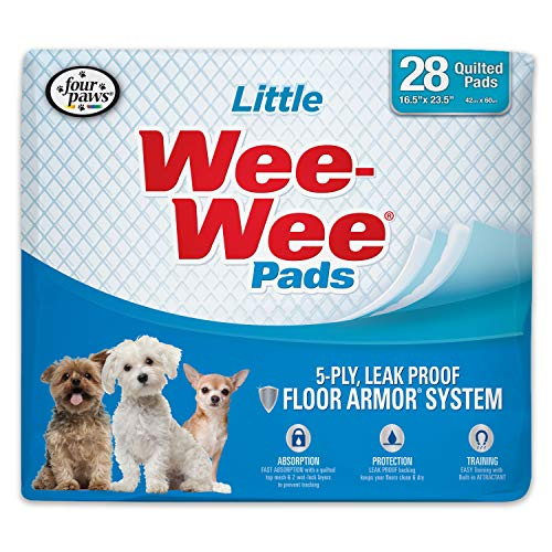 Wee-Wee Puppy Training Pee Pads 28-Count 16.5' x 23.5' Little Size Pads for Dogs