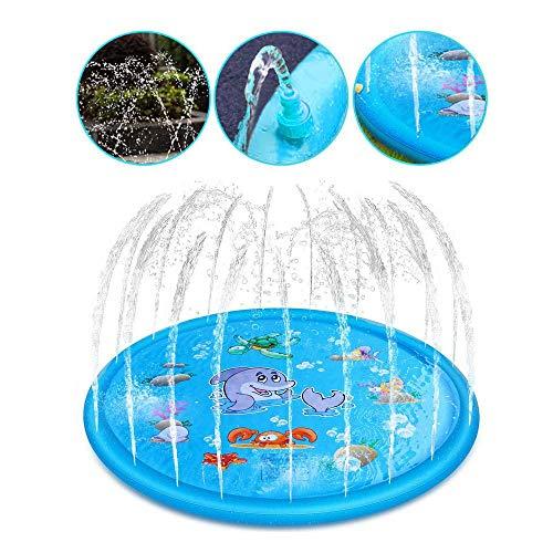 Womdee - Alfombra de juego de agua, juguete hinchable, cojín de agua con animales marinos para fiestas de agua, perfecta para bebés, niños pequeños, 3 tamaños