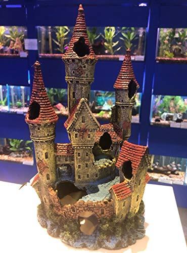Mezzaluna Gifts Large Princess Castle with Turrets Colourful Aquarium Fish Tank Ornament