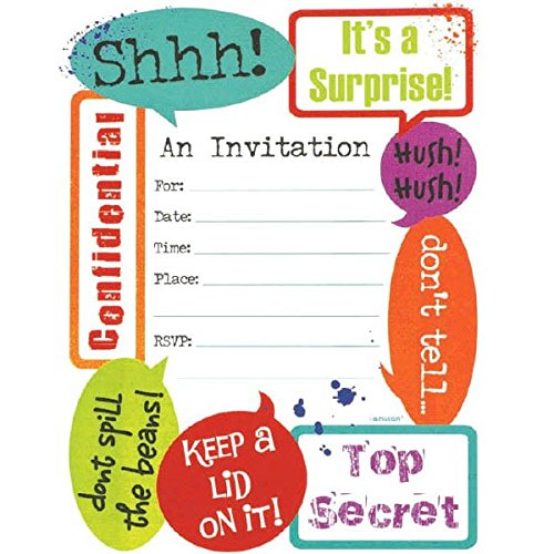 Amscan 493751 Supplies Party Invitations 6 1 4 X 7 8