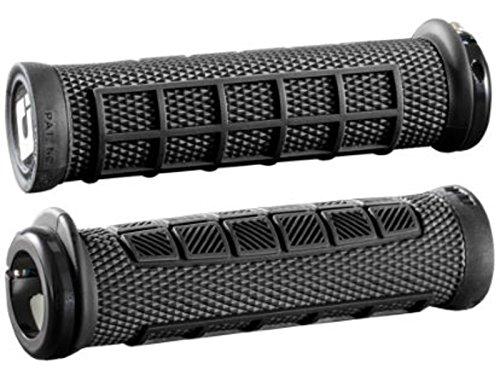 ODI MTB Griffe Elite PRO Lock On Schwarz, Maniglie Unisex-Adulto, Nero, L/32-130 mm