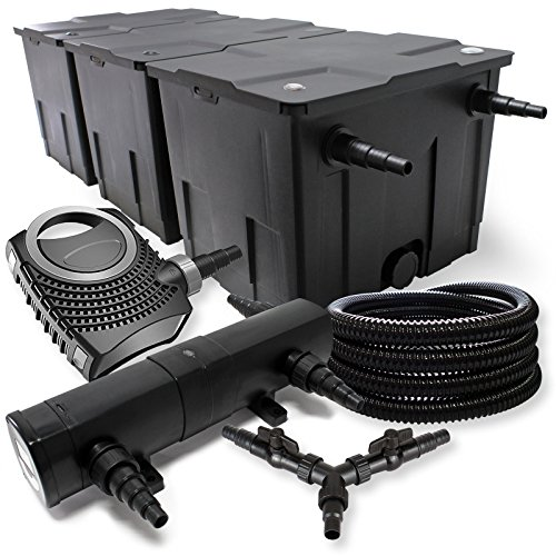SunSun Filter Set für 90000l Teich 18W Teichklärer NEO8000 70W Pumpe 25m Schlauch
