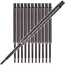 Jaymo Replacement for Waterman 834254-4.375 in / 111 mm Long - Ballpoint Pen Refill - 12 Black