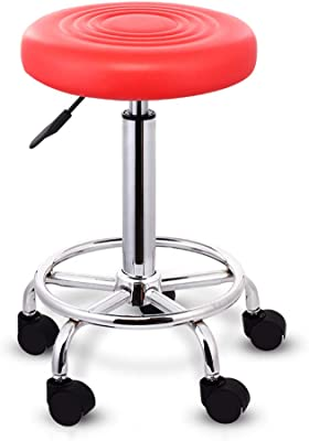 WQ-Sillas de escritorio Bar Chair 360 ° Giratorio Lift Bar Chair High Feet Round