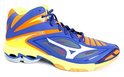 Mizuno Scarpe Volley Uomo - WAVE LIGHTNING Z3 MID - V1GA1705-73 - SurftheWeb/White/OrangeCkwnFi-46.5