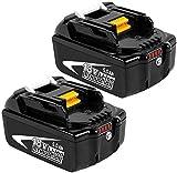 2X Dosctt BL1850B 18V 5.0Ah Reemplazo de Batería de para Makita 18v Batería BL1850 BL1860B BL1860 BL1840 BL1835 BL1830 BL1815 LXT-400 con indicador