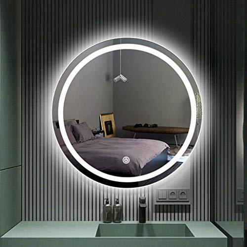 FACAIA Miroir de 60 cm, Miroir de Salle de Bain Lumineux LED rétroéclairé Miroir de Maquillage Mural avec contrôle Tactile,