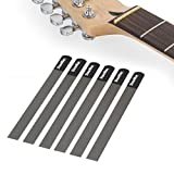 StewMac Gauged Nut Slotting File Set for Electric Guitar, for Light Strings - Set of 6