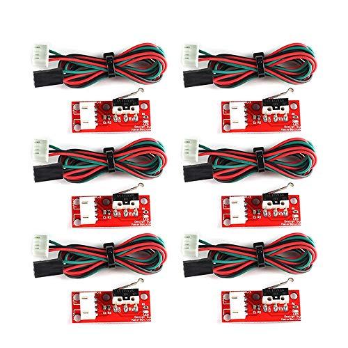 RETYLY 6Pcs Mechanical Endstop Limit Switch Press Switch Module For 3D Printer Makerbot Prusa Mendel Reprap Cnc Mega 2560 1280 Ramps 1.4 Lkb01