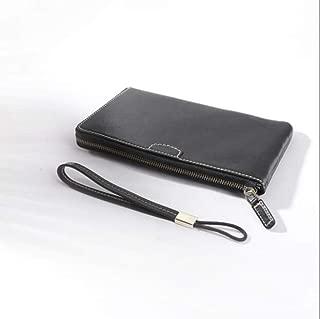 Wallet, Vegetable Tanned Leather, Men's Women's Clutch, Japanese Fashion Handbag,Black
