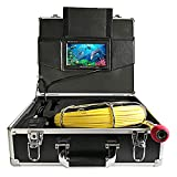 Pipe Inspection Camera, BestWill 20M/65ft Drain Sewer Industrial Endoscope Waterproof IP68 Video Plumbing System with 7 Inch LCD Monitor 1000TVL DVR Recorder Snake Video Camera (Include 8GB SD Card)