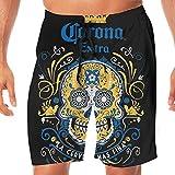 Corona Extra Beer Logo Men's Beach Pants Swim Trunks Quick Dry Beachwear Sports Running Swim Board Shorts