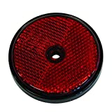 Carpoint 0413961 Reflectores Redondos 70mm Rojo 2-Piezas