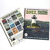 2022 POSTER Art Calendar 11x14 Retro Vintage Art Style by Maine Artist Alan Claude