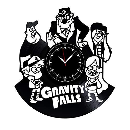 "Gravity Falls Vinyl Record Clock 12"" - Wall Clock Gravity Falls - Best Gift for Gravity Falls Lovers - Original Wall Home Decoration"
