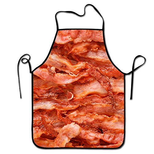 Liubajsdj-Waist Adjustable Professional Apron Kitchen Funny Bacon Meat Woman Aprons Comfortable Perfect For Cooking Guide