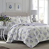 Laura Ashley Home - Keighley Collection - Luxury Premium Ultra Soft Quilt Set, All Season Stylish Bedding, Full/Queen, Lilac