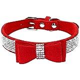 ETOPARS Collar de Perro de Diamantes de Imitación, Lindo Collar de Perro Deslumbrante, Mascota de Diamante de Cristal Collar de Perro Gato, Arnés para Collar de Perro para Mascotas